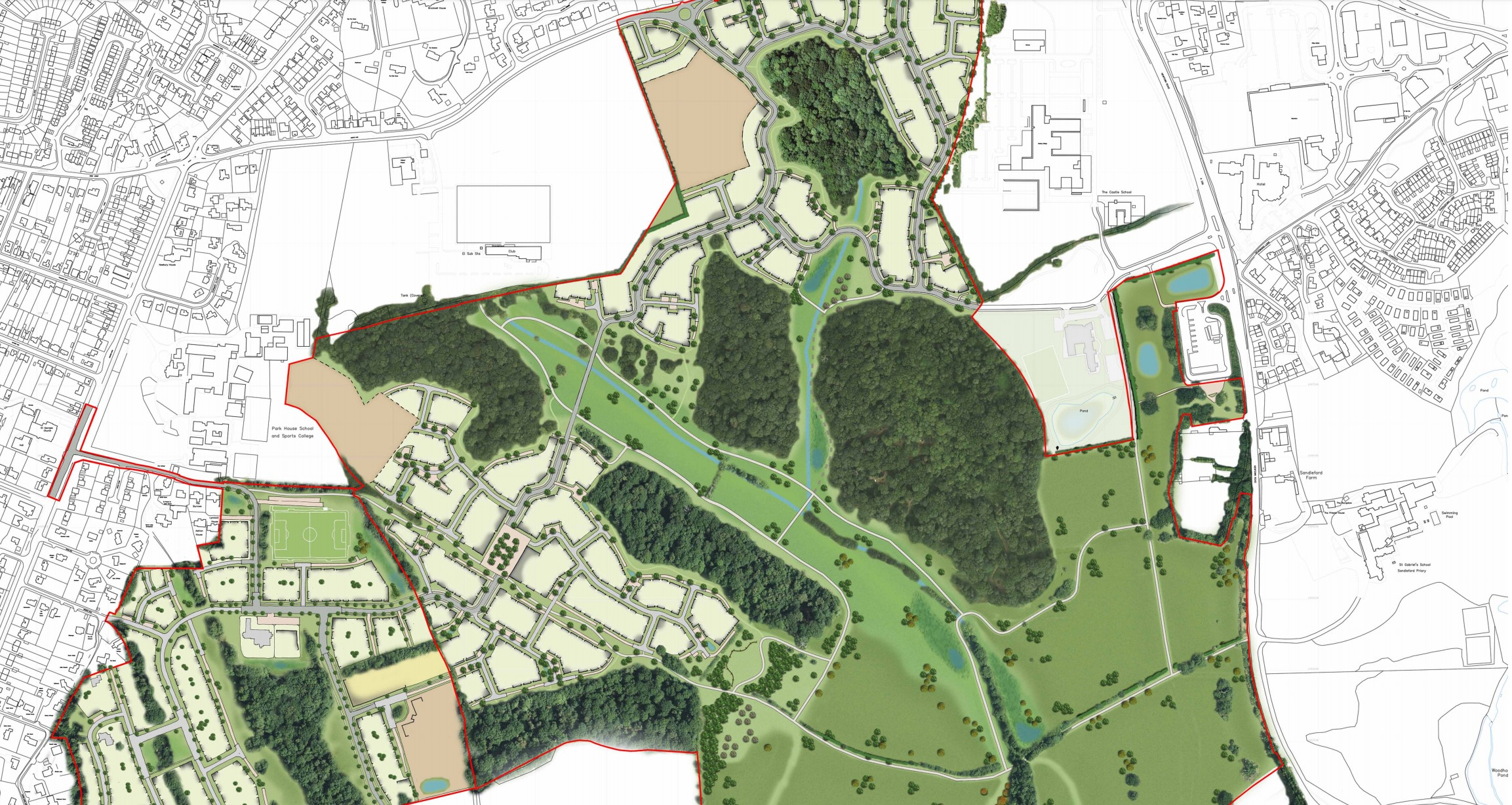 Sandleford Park App in for 1000 homes